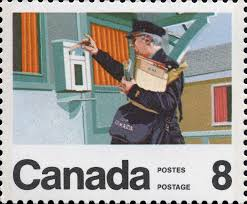 letter carrier postage stamp canada