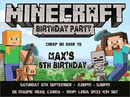 minecraft birthday invitations minecraft birthday invitation template birthday invitation minecraft