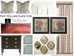 Navy White And Coral Bedroom The Yellow Cape Cod Custom Designs