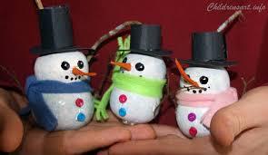 snowman gourd ornament craft children s
