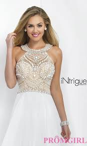 white graduation gowns white beaded prom dress by blush promgirl