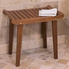 Teak Bath Caddy Australia by Belham Living Corner Teak Shower Bench With Shelf Hayneedle