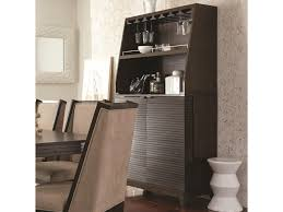 Contemporary Bar Cabinet Najarian Cascade Contemporary Bar Cabinet With Wine Bottle Rack