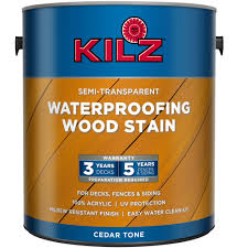 kilz solid color exterior wood stain gallon deep base walmart com