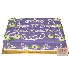 70th birthday cakes 1818 70th birthday purple sheet cake abc cake shop bakery