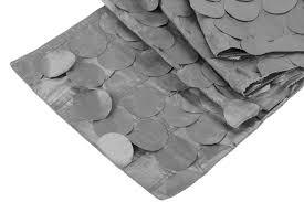 petal circle table runner silver cv linens