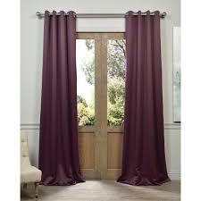 Aubergine Curtains Exclusive Fabrics Grommet Blackout Thermal Aubergine Curtain