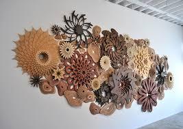 wooden designs artist designs precisely cut wooden coral reefs