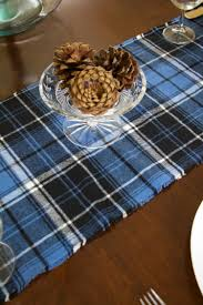 Christmas Plaid Table Runner by Diy Plaid Table Runner With Pom Poms A Blissful Nest