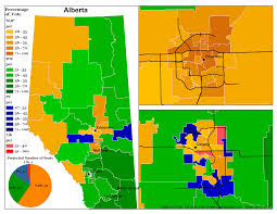 Edmonton Canada Map by Map Of Alberta Provincial Election Polls According To