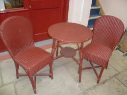 Lloyd Loom Bistro Chair Vintage Lloyd Loom Three Bistro Set Eras Of Style Eras