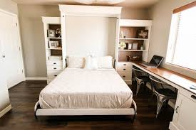Over The Bed Bookshelf 12 Diy Murphy Bed Projects For Every Budget