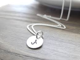 sterling silver monogram necklace pendant initial necklace sterling silver monogram necklace silver initial