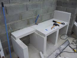 realiser une cuisine en siporex cuisine cuisine exterieure beton construire une cuisine en beton