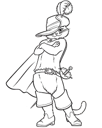 puss boots coloring pages download print free