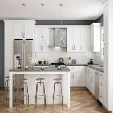 home depot kitchen cabinets refinishing hton bay shaker ready to assemble 18 in w x 84 in h x