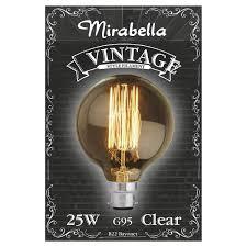 mirabella b22 g95 25w vintage style filament bulb kmart