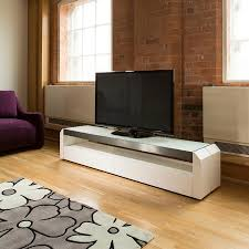 Living Room Glass Tv Cabinet Designs Television Cabinet Unit White Gloss Glass Top 2 0 Metres Wide 701f
