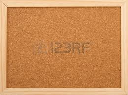 cork board with blank paper pinned up stock photo picture and