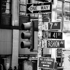 fashion ave street new york city black and white prints