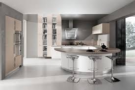 plan de travail arrondi cuisine cuisine design blanche arrondie avec plan de travail bois bar et