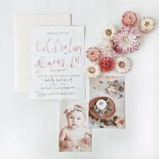 birthday announcements baby caia watercolor illustration illustrations and watercolor
