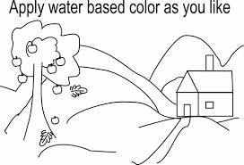 scenery coloring printable kids