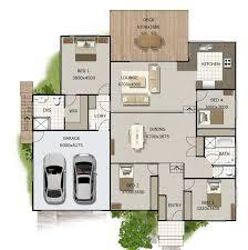 split level homes floor plans split level house plan 4 bedroom sloping land house plan