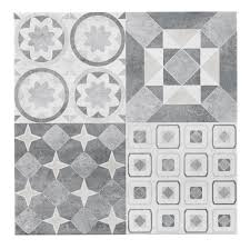 B Q Bathroom Laminate Flooring Lofthouse French Grey Stone Effect Patchwork Ceramic Wall U0026 Floor