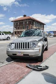 crashed jeep liberty rollover crash results in minor injuries local news