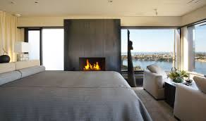 luxury house in corona del mar california bedroom fireplace home