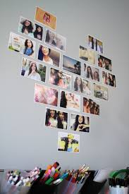 decorate your room with photos in a heart layout bethany mota