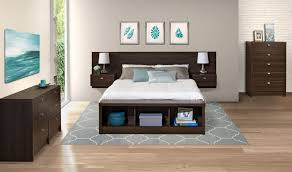 Ikea Malm Bed With Nightstands Sideboard Prepac Espresso Series 9 Designer Floating Queen