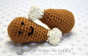 crochet makes me happy thanksgiving turkey leg pattern