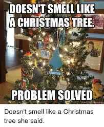 Christmas Tree Meme - doesn t smell like christmas tree re doo polis problem solved make