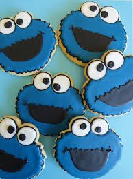 cookie monster baby shower my pink little cake sesame street cookies oscar big bird elmo