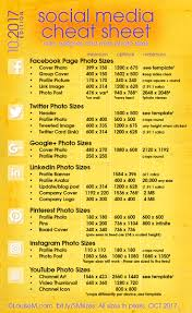 social media cheat sheet 2017 must have image sizes