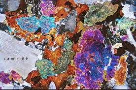 plutonic rock thin section