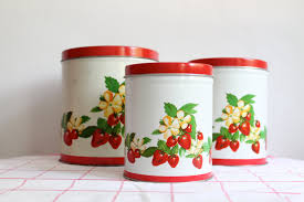 Vintage Kitchen Collectibles by 28 Tin Kitchen Canisters Vintage Kitchen Canisters Set Of 4