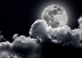 moon clouds sky moon clouds see