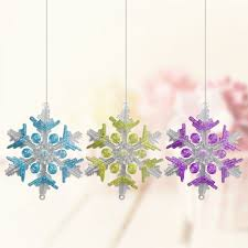 aliexpress com buy 10cm 6pcs acrylic snowflake 3d snowflakes
