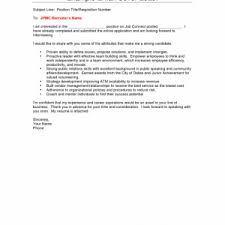 cover letter for internal position sample cover letters example of