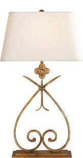 Quatrefoil Table Lamp Gilded Iron With Linen Shade Aborn Pinterest Quatrefoil