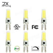 Dimmable G9 Led Light Bulbs by Zx Dimmable G9 Cob Led Bulb 220v Led Wafer Pendent Chandelier