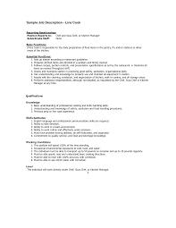 Resume Job Description For Server by Cover Letter Line Server Job Description Hometown Buffet Line