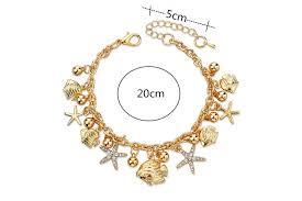 chain link charm bracelet images Ocean life starfish austrian crystal chain link charm bracelet jpg
