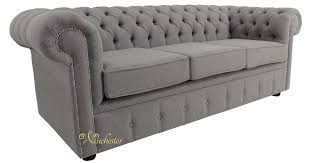 fabric chesterfield sofa chesterfield 3 seater settee proposta steel grey fabric sofa offer