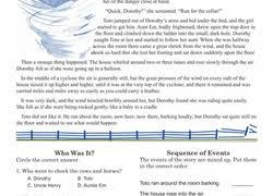 5th grade fiction reading passages 5th grade comprehension worksheets free printables education