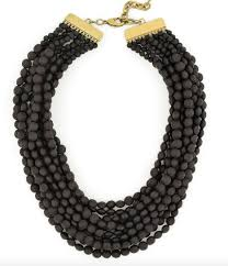 bib necklace beaded images Black matte beaded bib necklace from zenzii classic necklace png