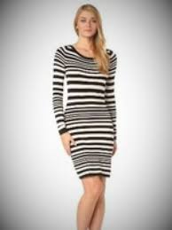 french connection black and white striped dress fashion lora